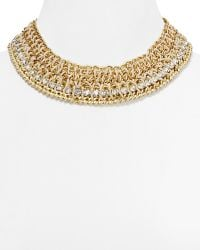 Cara Accessories Shawk Cord Chain Collar Necklace 14 gold - Lyst