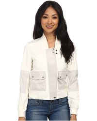 Calvin Klein Jeans Leather & Suede Panel Bomber - Lyst