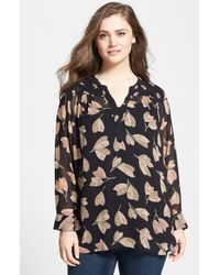 Lucky Brand Floral Print Top - Lyst