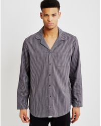 Calvin Klein | Flannel Sleepwear Top Grey | Lyst