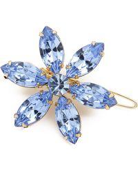 Dauphines of New York - Flower Garden Barrette - Blue - Lyst