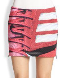 Adidas X Mary Katrantzou Side-Zip Sneaker-Print Mini Skirt - Lyst