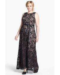 Adrianna Papell Lace Mermaid Gown - Lyst