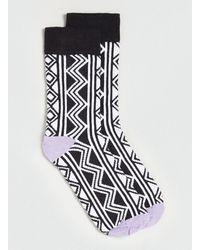 Topman Mono Zig Zag Pattern Socks - Lyst