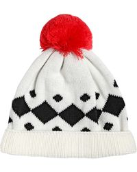 Federica Moretti - Rombi Jacquard Wool Hat with Pompom - Lyst