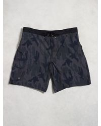 John Varvatos Fly Front Swim Trunks - Lyst