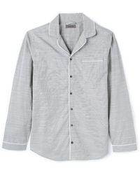 Calvin Klein Gray Pajama Shirt - Lyst