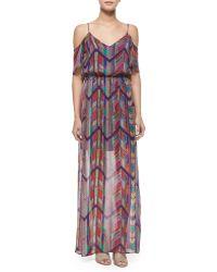 Ella Moss Chevron-Print Maxi Dress multicolor - Lyst