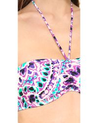 Shoshanna Pampelonne Paisley Bikini Top - Lyst