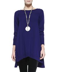 Eileen Fisher Merino Jersey Layering Dress - Lyst