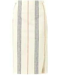 Altuzarra Miki Striped Sideslit Pencil Skirt - Lyst