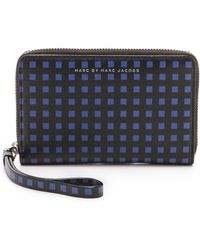 Marc By Marc Jacobs Space Check Wingman Wallet - Light Sand Multi - Lyst