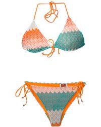 Missoni Zig Zag Crochet Knit Bikini - Lyst