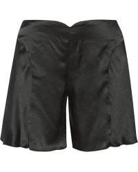 Anna Sui Silkcharmeuse Wideleg Shorts - Lyst