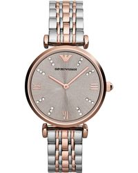 Emporio Armani Womens Two-tone Stainless Steel Bracelet Watch 31mm - Lyst