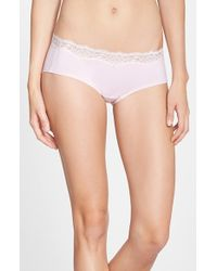 DKNY 'Downtown' Lace Trim Cotton Hipster Briefs - Lyst