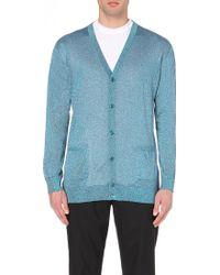 Casely-hayford Metallic-Knit Cardigan - For Men - Lyst