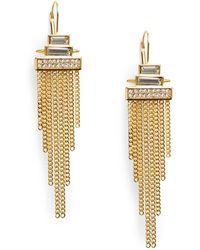 Vince Camuto - Glam Punk Chain Fringe Earrings - Lyst