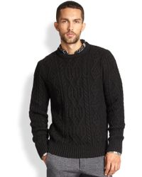 Vince Cable Knit Crewneck Sweater - Lyst