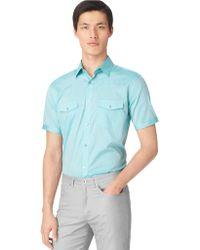 Calvin Klein Chambray Sport Shirt - Lyst