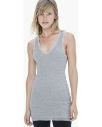 James Perse Cotton Cashmere Rib Double Layer Tank - Lyst