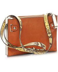 Francesco Biasia - Hampstead Color Block Leather Crossbody Bag - Lyst
