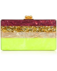 Edie Parker Jean Banded Box Clutch - Lyst