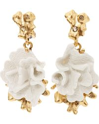 Oscar de la Renta Coral Earrings - Lyst