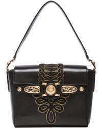 Versace Leather Satchel - Lyst