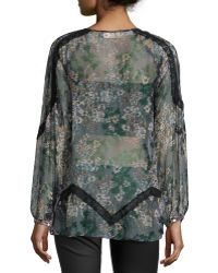 4 Love & Liberty - Rosalee Long-sleeve Spliced Blouse - Lyst