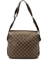 Louis Vuitton Damier Ebene Naviglio Shoulder Bag - Lyst