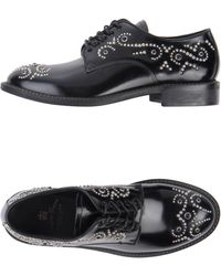 Leather Crown Laceup Shoes - Lyst