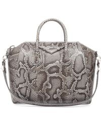 Givenchy Antigona Medium Python Satchel Bag - Lyst