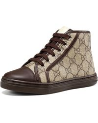 Gucci   GG Supreme Canvas High-Top Sneakers   Lyst