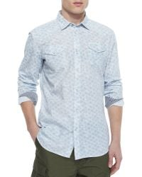 Diesel Allover Print Shirt With Contrast Cuffs - Lyst