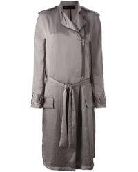 Haider Ackermann Epaulettes Belted Coat - Lyst