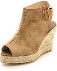 Elysewalker Los Angeles Lesley Espadrille Wedge Sandals Tan - Lyst