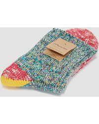 Mauna Kea - Colour Knit Four Part Sock Yellow/pink - Lyst
