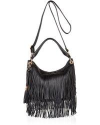 River Island Black Fringe Bucket Handbag Lyst
