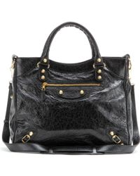 Balenciaga Giant Velo 12 Leather Tote black - Lyst