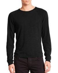 Rag & Bone Standard Issue K-Long Sleeve Raglan Tee black - Lyst
