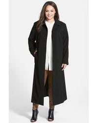 Gallery Pickstitch Detail Long Nepage Raincoat - Lyst