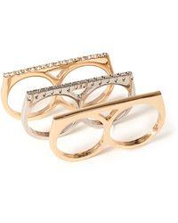 Forever 21 Multi-finger Rhinestone Ring Set - Lyst