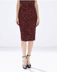 Parker Cascade Skirt purple - Lyst
