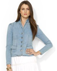 Lauren by Ralph Lauren Lauren Jeans Co Buttonfront Denim Blazer - Lyst