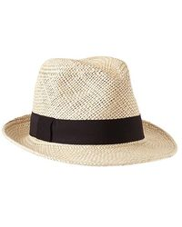 Gap White Straw Fedora - Lyst