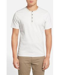 Vince Camuto Short Sleeve Henley white - Lyst