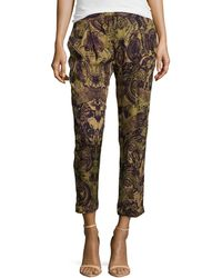 Haute Hippie Paisley Printed Silk Pants - Lyst