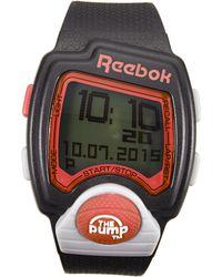 Reebok - Rc-Pli Black Pump Watch - Lyst