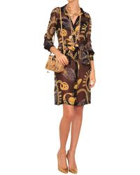 Moschino Silk Chemisier Dress With Print - Lyst